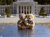 クマのルーニーとミニ国会議事堂