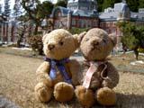 クマのルーニーとミニ東京駅