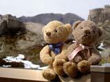 クマのルーニーとミニ万里の長城