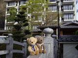クマのルーニー 若神楼 欄干