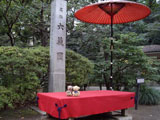 クマのルーニー 六義園入口付近 傘