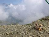 クマのルーニー 雲の上
