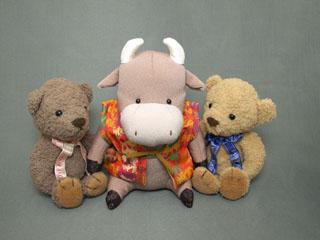 クマのルーニー 牛さん
