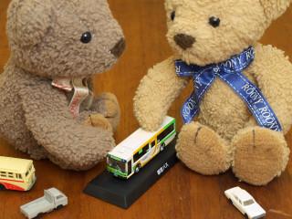 クマのルーニーと都営バス