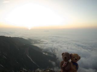 白馬岳山頂 日の出