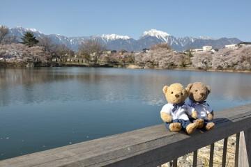 甲斐駒ケ岳と長坂湖