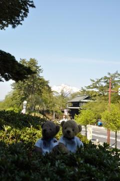 追手門と岩木山