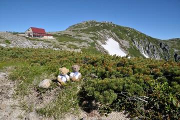 天狗荘と中岳