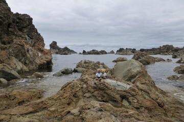 岬先端の岩場