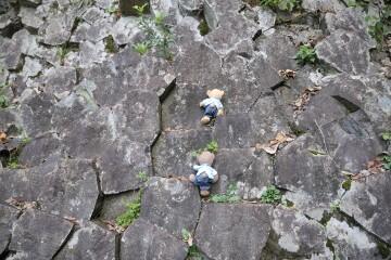 白虎洞岩登り